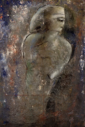 Odysseus (1985) by Jamali, Fresco Tempera, 53 x 79 in, 135 x 200 cm, Cat. 368