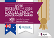 iVote Recognised for Its Innovation and Excellence in the 2016 Australian Government ICT Awards
