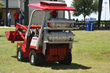 Ventrac displays their large onboard propane storage capacity on their multi-faceted propane commercial mowing unit
