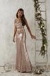 Sequins long  bridesmaid dress