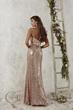 Sequins long  bridesmaid dress - Back