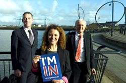 Andy Preston, Jessie Jacobs and Ian Stark at the EU business breakfast meeting.