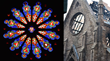 Rose Window - before and after fire