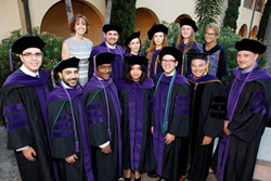 Stetson LL.M. in International Law graduates gather with international programs staff at May 2015 commencement.