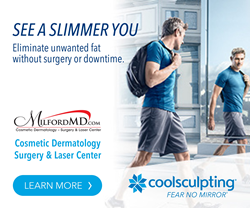 Freeze the fat in half the time at MilfordMD Cosmetic Dermatology Surgery & Laser Center with two CoolSculpting machines!