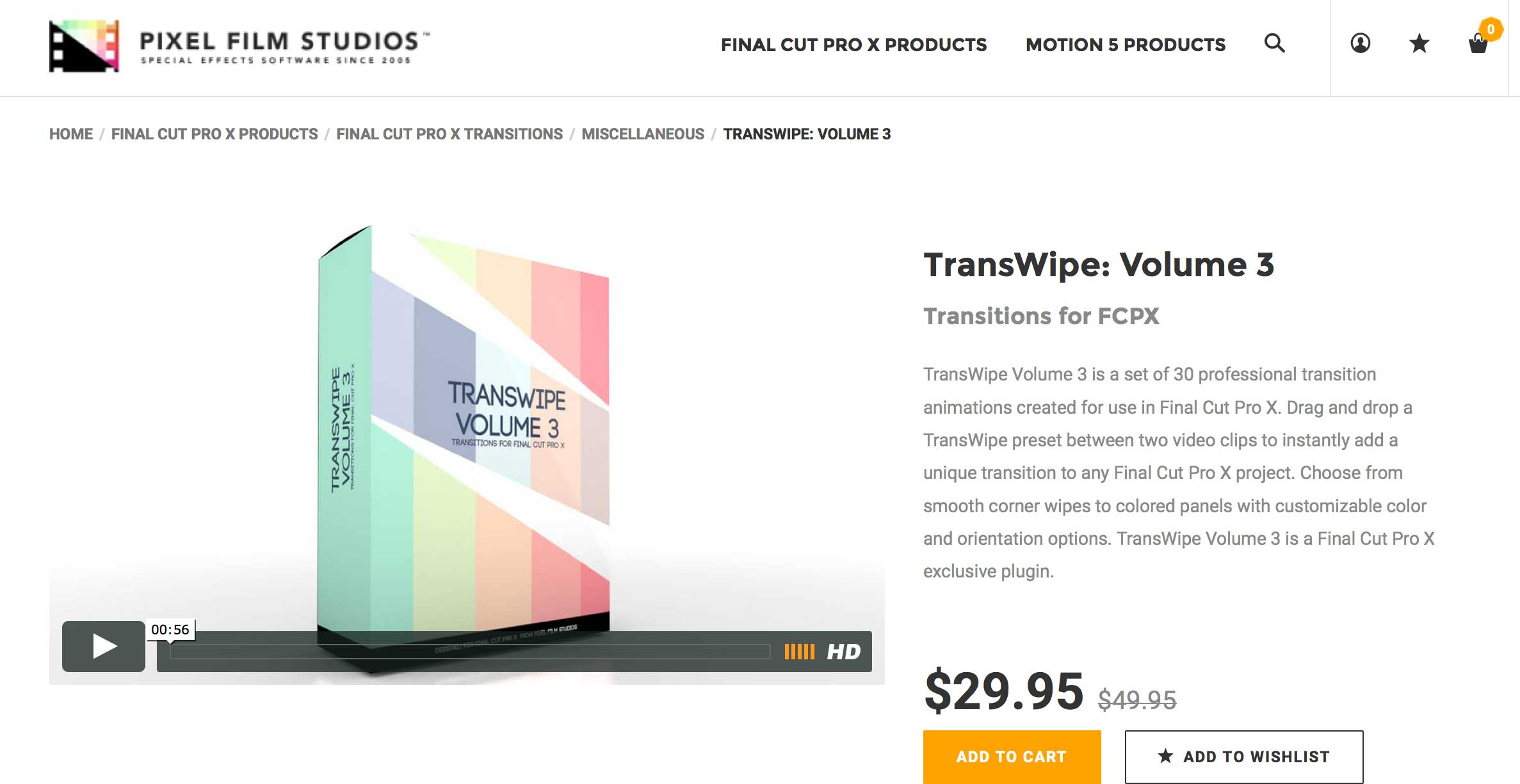 TransWipe Volume 3 Was Released By Pixel Film Studios for FCPX