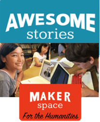 AwesomeStories MakerSpace with students WriteFolio, writing progress, authentic assessment