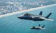 Two F35A Lightning II Joint Strike Fighters arrived over Fort Lauderdale Beach for the Ford Lauderdale Air Show