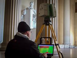 DJS Associates 3D Laser Scanning the Lincoln Memorial