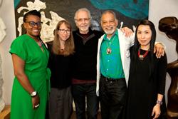 From L—R Cauleen Smith, Anne Washburn, Herb Alpert, Ishmael Houston–Jones, Dohee Lee. Photo by Steve Gunther
