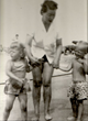 Kay Thompson Baxter And Her Children Rockaway Beach, NYC  1956