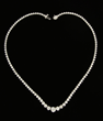 18K White Gold and Diamond Riviera Necklace