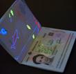 Passeport electronique ouvert avec datapage polycarbonate ID3 Nautilus