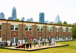 The Challenge Course at Walter G. Byers is literally in the shadow of downtown Charlotte. Just as the city of Charlotte is positioned for continued expansion and growth, Byers Elementary has created a