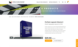 ProText Layouts Volume 2 - Pixel Film Studios Plugin - FCPX Effect