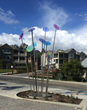 New, Colorful Gordon Huether Sculpture at Woodbury Luxury Condominiums