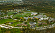 Aerial view of Husson University's campus in Bangor, Maine