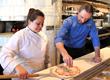 Chef Leslie Pineda (l) and Maurizio Mazzon