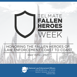 Telmate Partners with National Law Enforcement Officers Memorial Fund to Honor Fallen Heroes During National Police Week