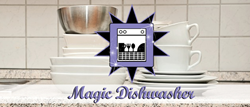 The Magic Dishwasher is a household invention which will revolutionize how people clean their kitchen and dining utensils at home.