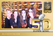 Super Bowl 50 attendees commemmorate the big game with a Selfie Station photo