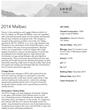 2014 Malbec Tech Sheet