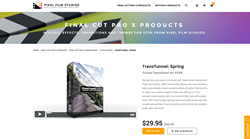 FCPX Transition - TransTunnel Spring - Pixel Film Studios Plugin