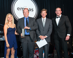Suddath representatives Peter Bowsher and Steve Crooks accept EMMA award