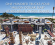 One Hundred Trucks Pour VistaBlue Singer Island Amenity Floor | An Oceanfront Luxury Condominium