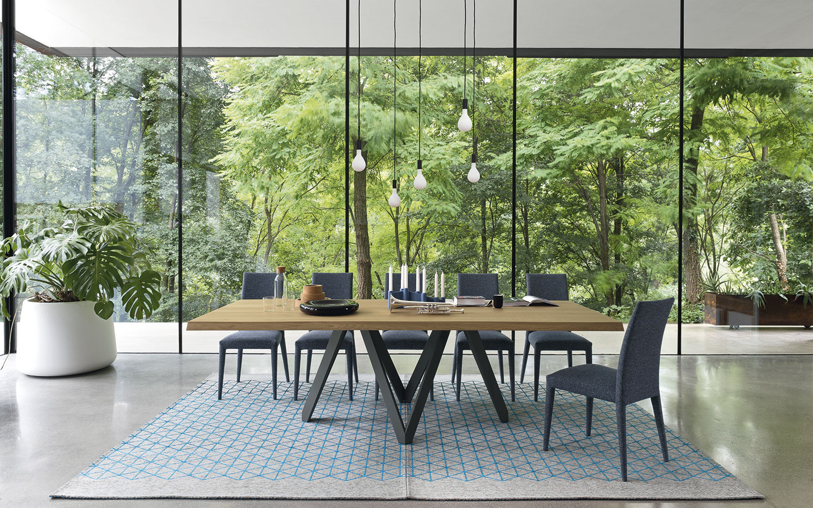 California s largest calligaris showroom announces modern dining room sale in los angeles up - Tavolo eclisse calligaris ...