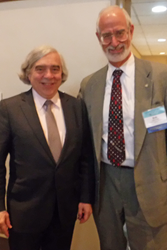 Energy Secretary Ernest Moniz, at left, and SPIE President Robert Lieberman were among participants in National Lab Day in Delaware.
