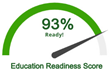 Prospective students receive a report which scores education and career readiness