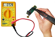 SMD Multimeter Test Tweezers plug into most multimeters to be used as tweezer probes for more efficient work