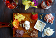 Charcuterie plate including local meats, cheeses, fruit and nuts-on menu at Spicy Vines
