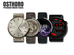 A sampling of Osthoro's wearable watch faces for Android.