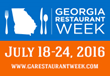Georgia Restaurant Week Set for July 18-24