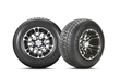 This proprietary Loadstar tire provides the highest lift possible, without a lift kit, for the Precedent golf car.