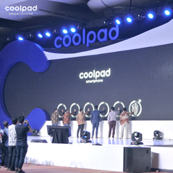 Coolpad Max first launch event in Grand Ballroom, Ritz-Carlton Hotel, Indonesia with more than 1000 attendees.