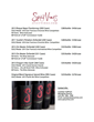 "Spicy Vines Wine List and Spicy Vines membership ""Club Spice"" which offers many benefits to the membership."