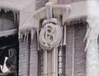 The terra cotta Pullman Couch Co. insignia was covered in ice as firefighters attempted to control the blaze, which engulfed the building while Chicago endured sub zero temperatures.