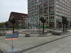 Ai Weiwei art installation in Boston, MA.