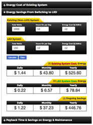 New VOLT Energy Savings LED Lighting Calculators