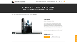 Final Cut Pro X Plugin - ProFlicker - Pixel Film Studios Effect