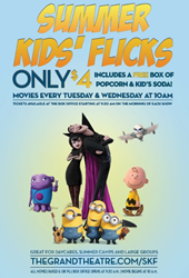 Summer Kids' Flicks Kicks off 9th Season with Family Films