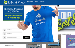 Life is Crap_Get-an-email screenshot by ShopSocially