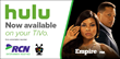HULU Launches as a Channel on RCN and GRANDE Communications