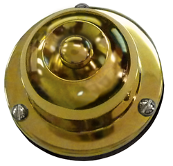 Solid Brass Surface Mount Pushbutton with extra back plate