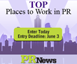 PR News Now Accepting Entries for the 2016 Top Places to Work in PR Awards
