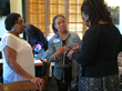 Members of the Orland Park Chapter networking with their guest speaker,  Felicia Houston
