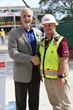 Florida Hospital Carrollwood President & CEO, Joe Johnson and Robins & Morton Construction Superintendent, JT Coleman